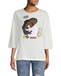 Dolce & Gabbana - Family Graphic Embellished Blouse - Lyst