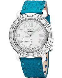 Fendi - Women's Selleria Diamond Watch - Lyst
