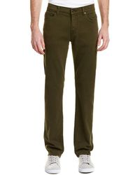 7 For All Mankind - 7 For All Mankind Slimmy Military Green Slim Leg - Lyst