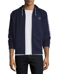 Fred Perry - Hooded Track Jacket - Lyst