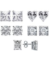 Gottex - Plated Silver Cz 5pc Post Earring Set - Lyst