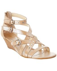Isola - Petra Leather Wedge Sandal - Lyst