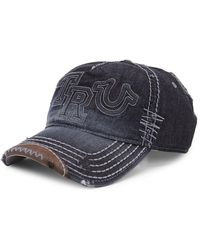 True Religion - Denim Baseball Cap - Lyst