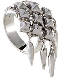 Stephen Webster - Silver & Rhodium Ring - Lyst