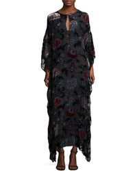 Adam Lippes - Floral Caftan Gown - Lyst