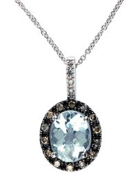 Effy - Fine Jewelry 14k 1.95 Ct. Tw. Diamond & Aquamarine Necklace - Lyst