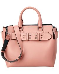 Burberry - Small Belt Bag Leather Tote - Lyst