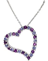 Effy - Fine Jewelry 14k 0.85 Ct. Tw. Amethyst & Tanzanite Necklace - Lyst