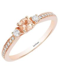 Le Vian - ? 14k Strawberry Gold .36 Ct. Tw. Diamond & Peach Morganite Ring - Lyst