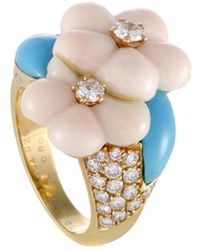 Heritage Van Cleef & Arpels - Van Cleef & Arpels 18k 0.80 Ct. Tw. Diamond & Gemstone Ring - Lyst
