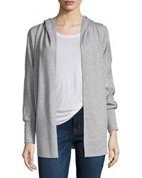 Nanette Lepore - Embellished Trim Hooded Sweatshirt - Lyst