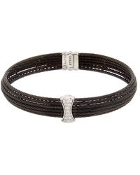 Alor - 18k & Stainless Steel 0.12 Ct. Tw. Diamond Cable Bracelet - Lyst