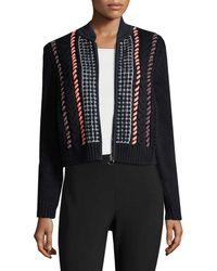Versace - Textured Zipper Cardigan - Lyst