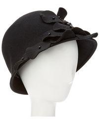 Giovannio - Couture Black Profile Wool Cloche - Lyst