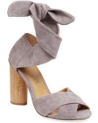 d4bf2eb97f4 Lyst - Splendid Johnson Block Heel Sandal in Brown