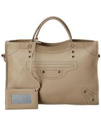 Balenciaga - Blackout City Aj Medium Leather Shoulder Bag - Lyst