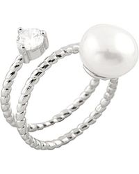 Splendid - Plated Silver 10-10.5mm Freshwater Pearl Ring - Lyst