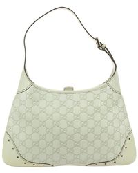Gucci - Cream Leather Jackie O Shoulder Bag - Lyst