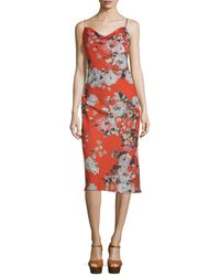 ABS By Allen Schwartz - Abs By Allen Schwartz Floral Print Slip Dress - Lyst