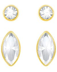 Swarovski - 24k Plated Crystal Earring Set - Lyst