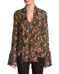 Millie Mackintosh - Floral Tie-front Blouse - Lyst
