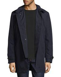 Hart Schaffner Marx - Raindown Spread Collar Coat - Lyst