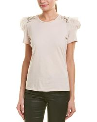 Pinko - Embellished T-shirt - Lyst