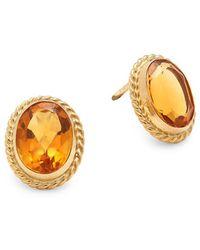 Saks Fifth Avenue - Citrine & 14k Yellow Gold Earrings - Lyst