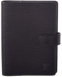 Louis Vuitton - Black Epi Leather Agenda Pm - Lyst