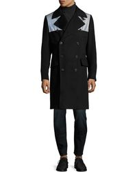 Paul Smith - Colorblocked Double Breasted Topcoat - Lyst