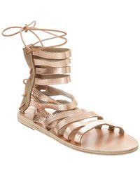 Ancient Greek Sandals - Galatia Metallic Leather Gladiator Sandal - Lyst