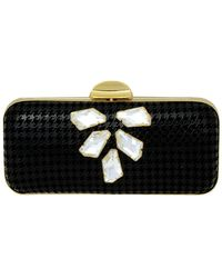 Inge Christopher - Carrie Leather & Swarovski Crystals Miniaudiere Clutch - Lyst