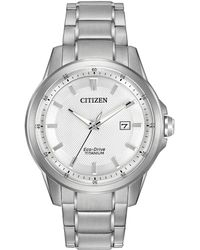 Citizen - Men's Eco-drive Stainless Steel Bracelet Watch 42mm Aw1490-50a - Lyst