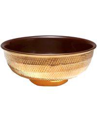 Aerin - Textured Gold Serving Bowl - Lyst
