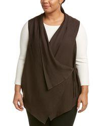 Marina Rinaldi - Plus Galleria Linen-blend Waistcoat - Lyst