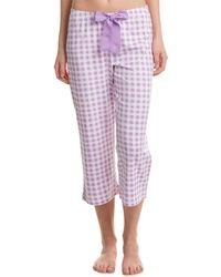 Hue - Gingham Capri Pyjama Pant - Lyst