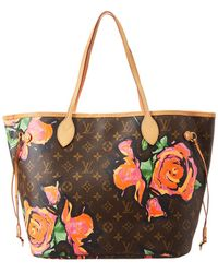 Louis Vuitton - Limited Edition Stephen Sprouse Roses Monogram Canvas  Neverfull Mm - Lyst a6d9a30e442cd