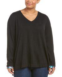 NYDJ - Plus Key Item Mix Media Sweater - Lyst