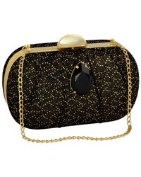 Inge Christopher - Roxi Leather & Swarovski Crystal Minaudiere - Lyst