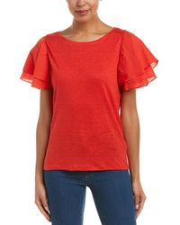 Laundry by Shelli Segal - Linen Top - Lyst