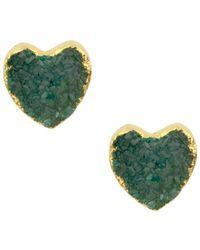 Saachi - Druzy Quartz Heart Earrings - Lyst