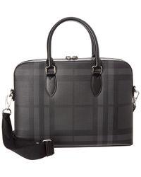 Burberry - London Check Leather-trim Slim Barrow - Lyst