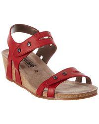 Mephisto - Mina Leather Sandal - Lyst