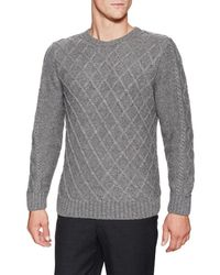 Barque - Diamond Cable Sweater - Lyst
