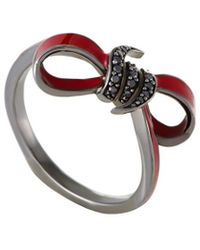 Stephen Webster - Forget Me Knot Rhodium Plated Sapphire Ring - Lyst