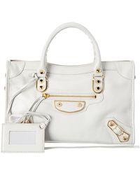 Balenciaga - Classic Gold Edge City Small Leather Shoulder Bag - Lyst