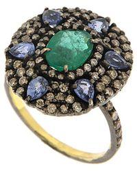 Meira T - 14k Yellow Gold & Silver 3.80 Ct. Tw. Diamond & Gemstone Ring - Lyst