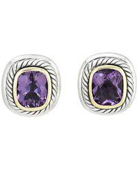 David Yurman - David Yurman Cable 14k & Silver Amethyst Earrings - Lyst