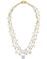 Marco Bicego - Paradise 18k Yellow Gold Chalcedony Necklace - Lyst