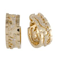 Cartier - Cartier 18k 2.00 Ct. Tw. Diamond Drop Panther Earrings - Lyst